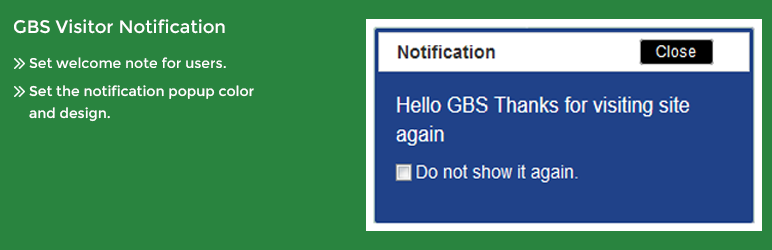 GBS Visitor Notification